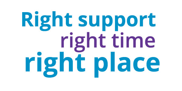 Right Support Right Time Right place logo